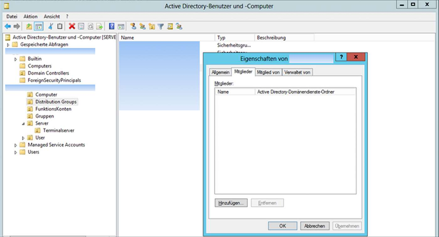 Screenshot: Active DIrectory