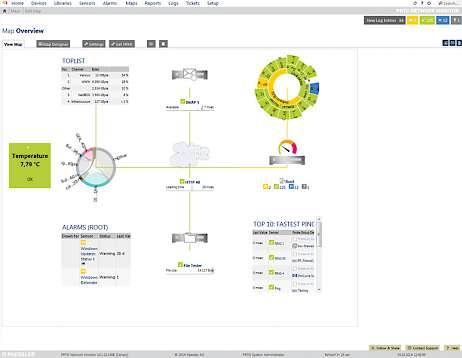Screenshot: Sensor Management mit der Enterprise Console